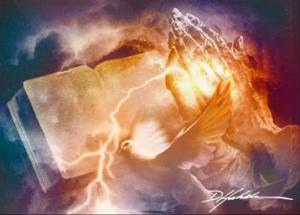 Praying_hands__lightning-open_Bible_4_x_5